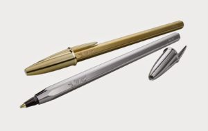 BIC CRISTAL SPECIAL EDITION GOLD AND SILVER (10)